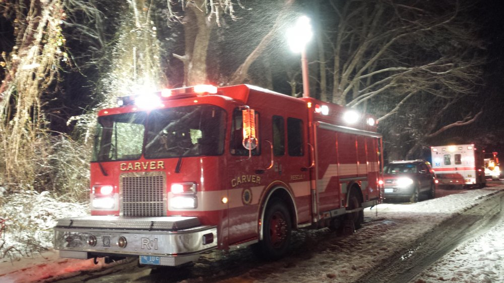 Mutual Aid Structure Fire Plympton Carver Fire Department