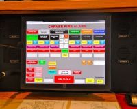 TELEX IP Based Touch Screen Dispatch Console. This new console was custom designed by Charlie Friss from CFM Communications with some input by Chief Weston. The console monitors Carver Fire Primary and Back-up, EMS, Police, DPW, Plymouth County Control and our 6 Plymouth Count Mutual Aid Frequencies. Fire dispatchers have the capability to tone Fire and EMS Incidents, open apparatus doors, monitor our radio voting system and record and replay emergency Incident audio. A lot of thought went into the design of the console, trying to make it very easy for a Fire Dispatcher to operate during stressful situations.