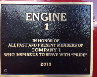 Engine 1 Plaque
