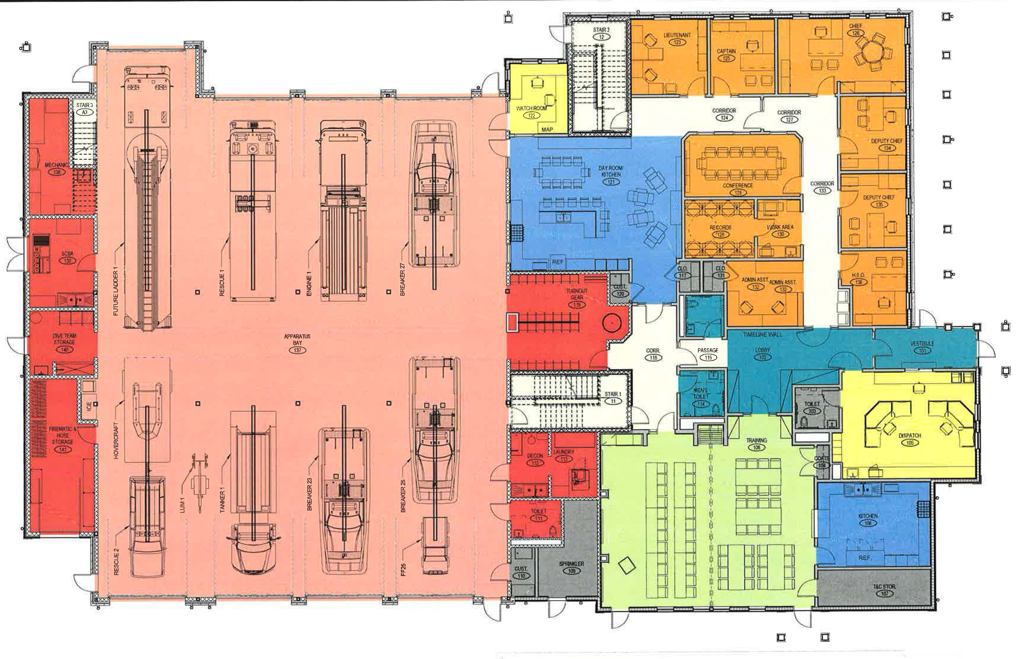 Fire station training facility building committee carver fire department for Fire station floor plans design